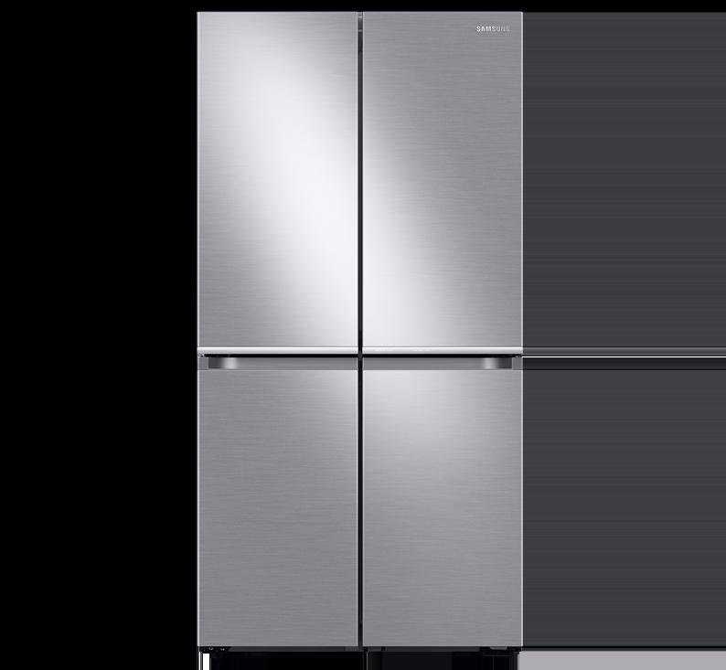 מקרר 4 דלתות Bespoke מותאם למטבח קו אפס, דגם RF70T9113GR
