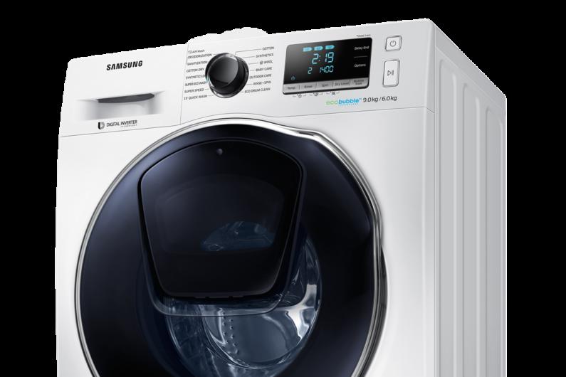 מכונת כביסה משולבת מייבש Samsung דגם WD90K6B10OW